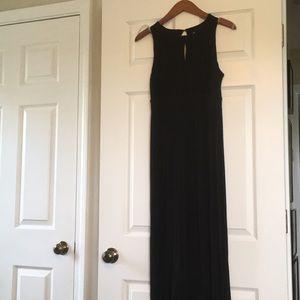 Black maxi dress with keyhole detailing